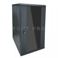 Шкаф настенный, 6U 450mm (Стекло)