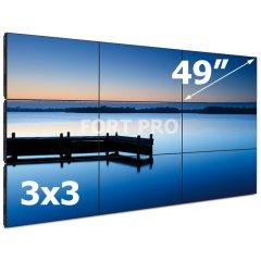"""Видеостена LCD FP-3x3 49"""" диагональ"""