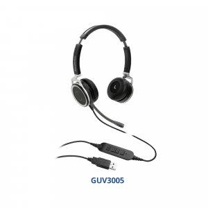 Grandstream GUV3005 USB-гарнитура, наушники для IP-телефона, ноутбука, компьютера