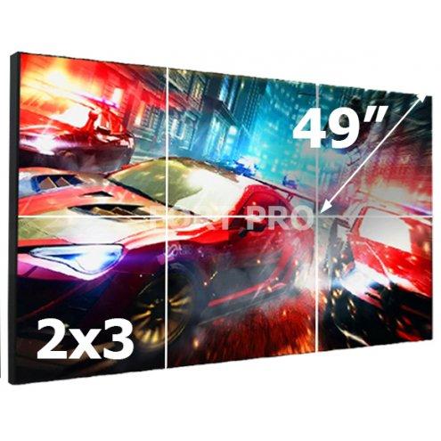 """Видеостена LCD FP-2x3 49"""" диагональ"""