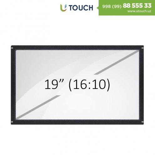 Инфракрасная сенсорная рамка со стеклом, 19-дюймов (6 касанй) (16-10)