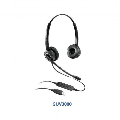Grandstream GUV3000 USB-гарнитура, наушники для IP-телефона, ноутбука, компьютера